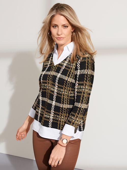 2-in-1-blouse met blouse-inzet