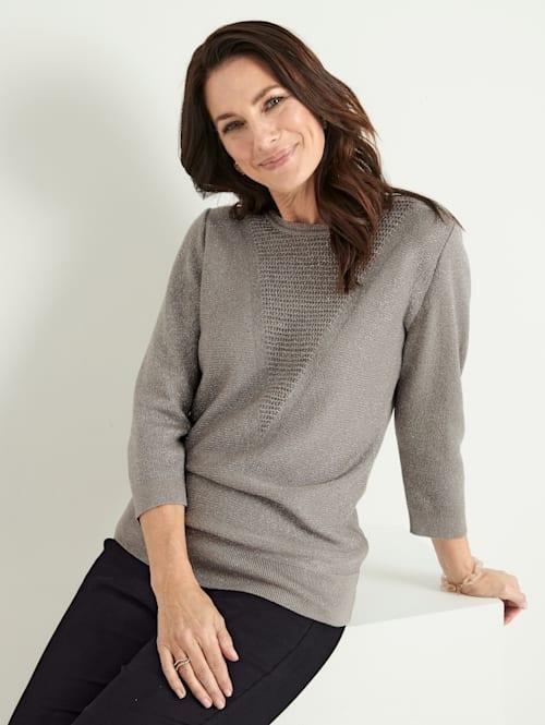 Pullover mit schimmerndem Glanzgarn