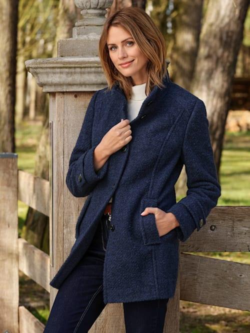 Wollen jas met scheerwol