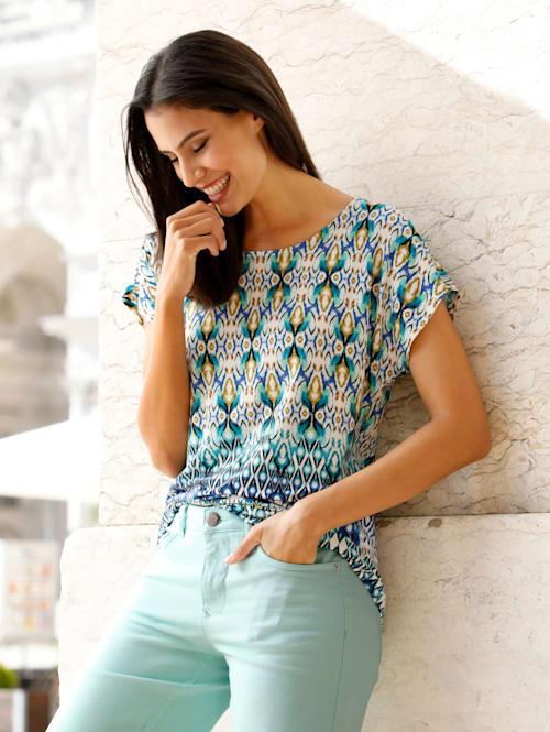 Shirt met zomerse etnoprint
