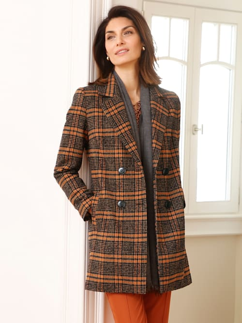 Jacket in a check print
