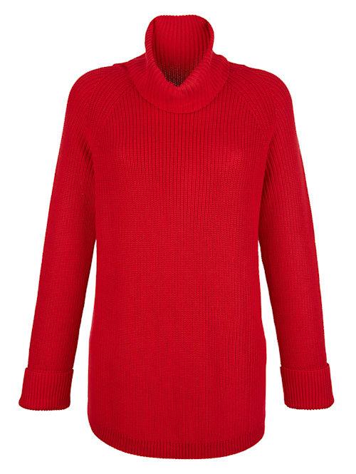 Pullover mit großzügigem Rollkragen