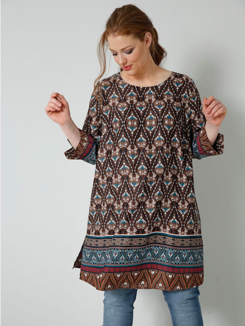 Tunika-Bluse mit Ethnoprint