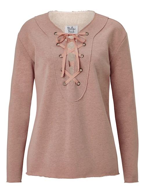 Sweatshirt mit Lacing und Lurex