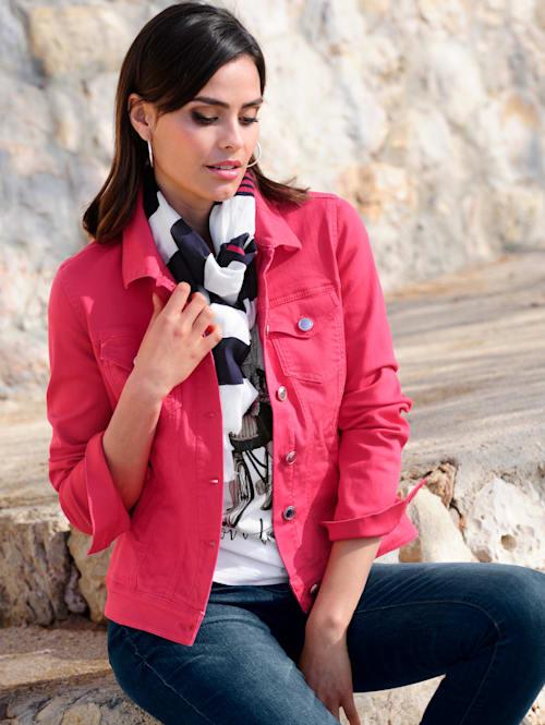 Jeansjacka i läcker färg