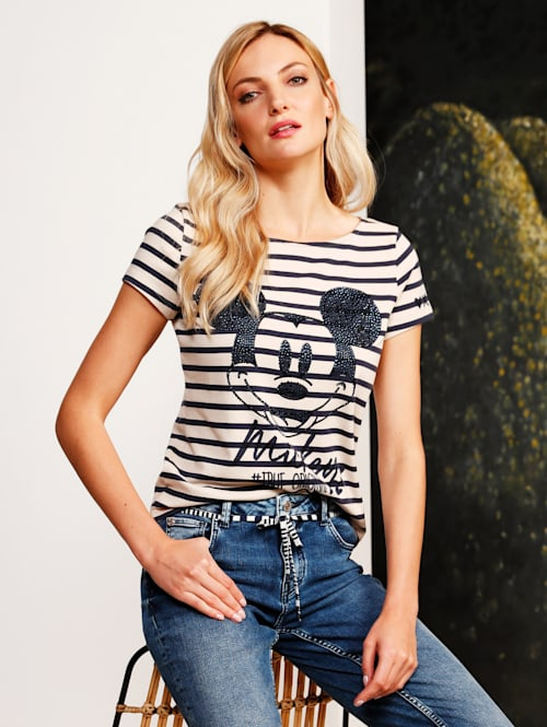 T-Shirt mit großer Mickey Mouse