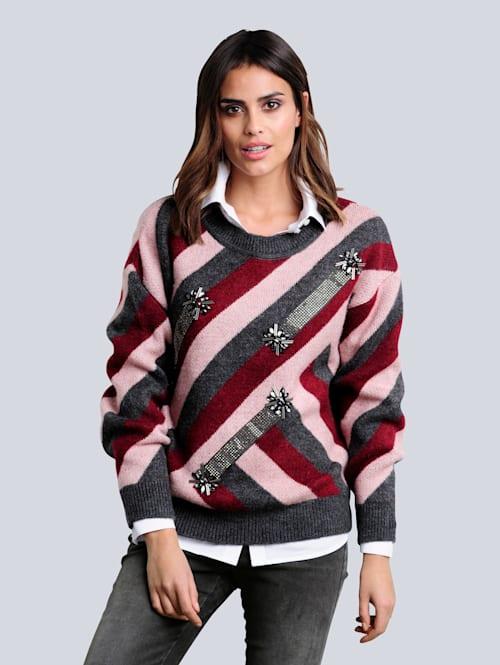Pullover mit modischem Colourblocking-Dessin