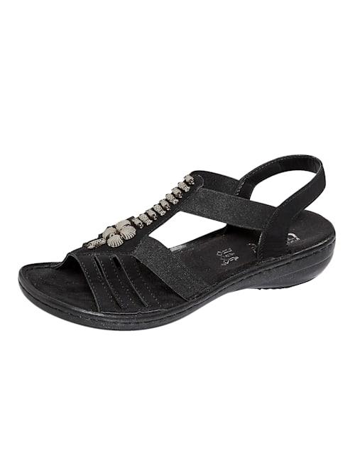 Sandaaltje met modieuze applicatie