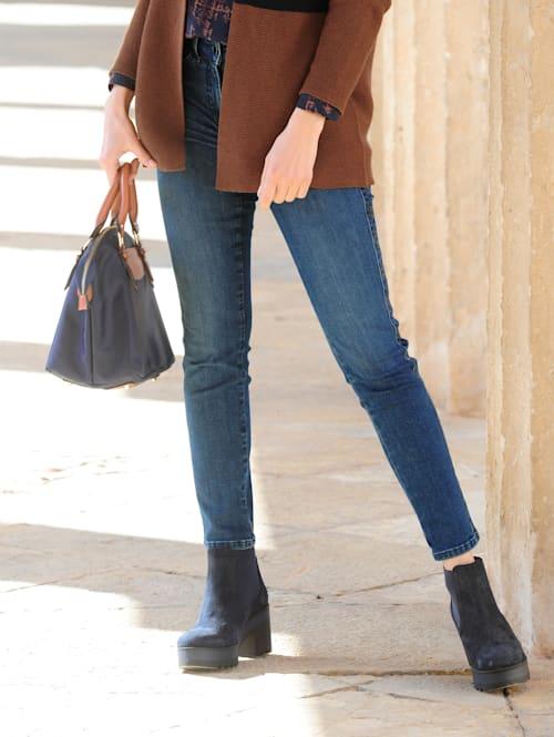 Jeans mit Galonstreifen an der Seitennaht