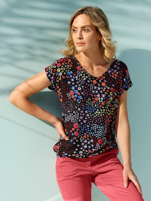 Shirt mit floralem Muster allover