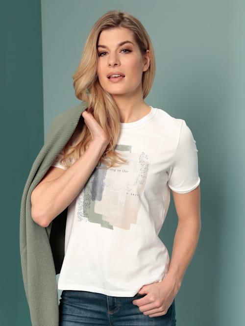 T-Shirt mit farbharmonischem Motiv
