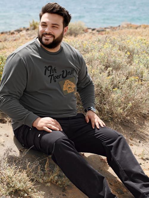Sweatshirt mit platziertem Druck