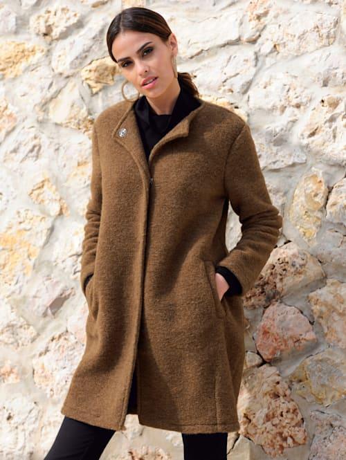 Veste longue à effet laine bouillie