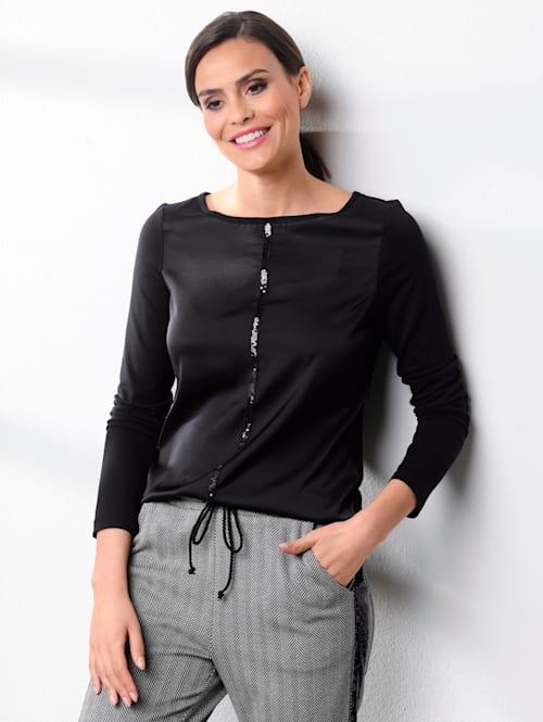 Tričko s flitrovým pásom
