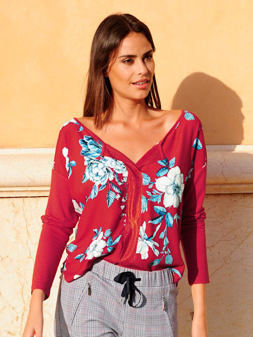 Shirt im Alba Moda exklusivem Druckdessin