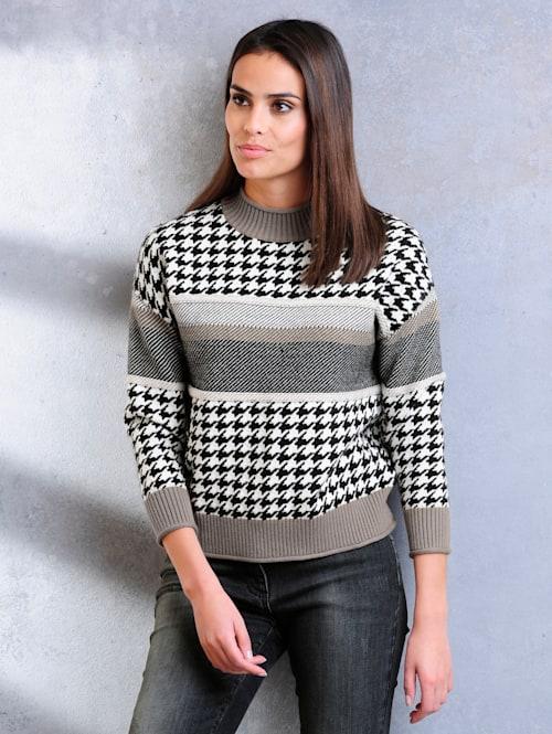 Pullover im Jaquardstrick-Dessin-Mix