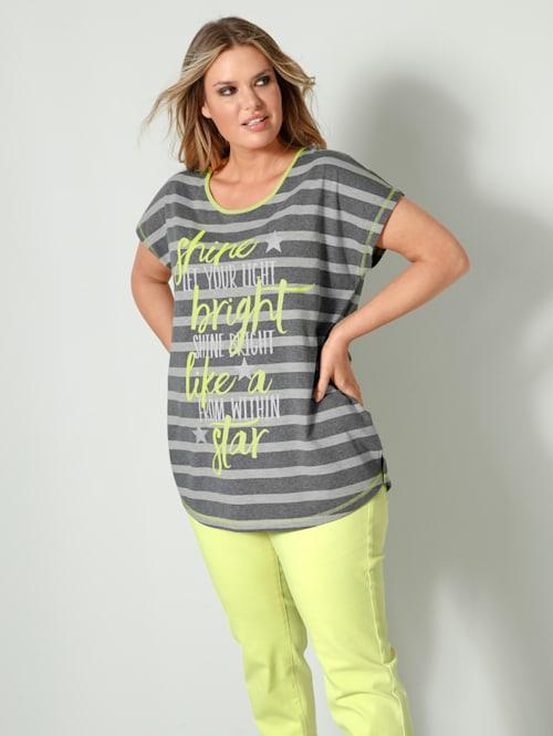 Shirt mit Schriftzug Print