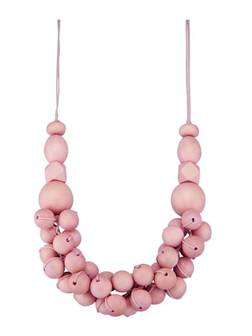 Halskette mit Holzkugeln