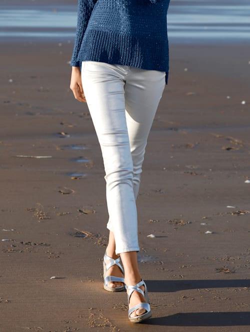 Pantalon d'aspect métallisé