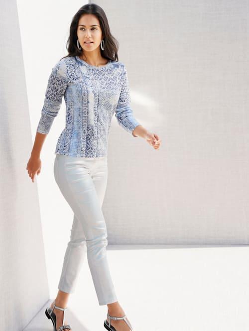 Pullover mit Kachel-Motiv