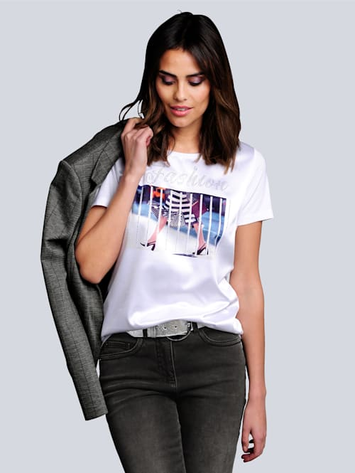 Shirt met modieuze print voor
