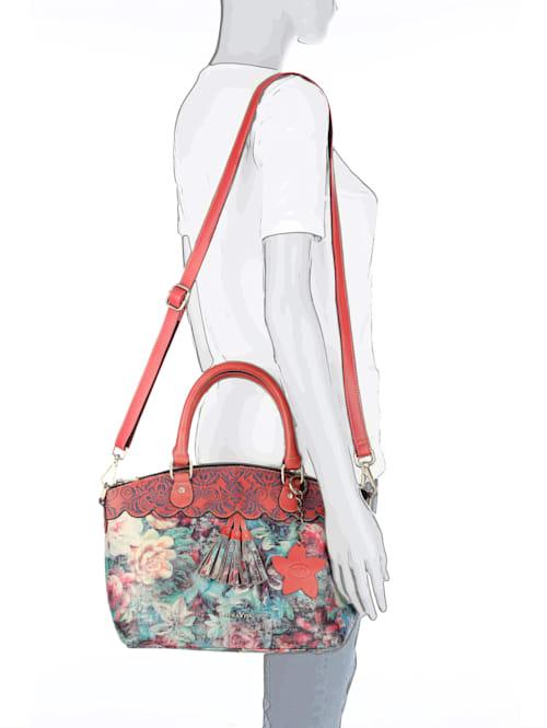 Handtas met schitterend bloemendessin