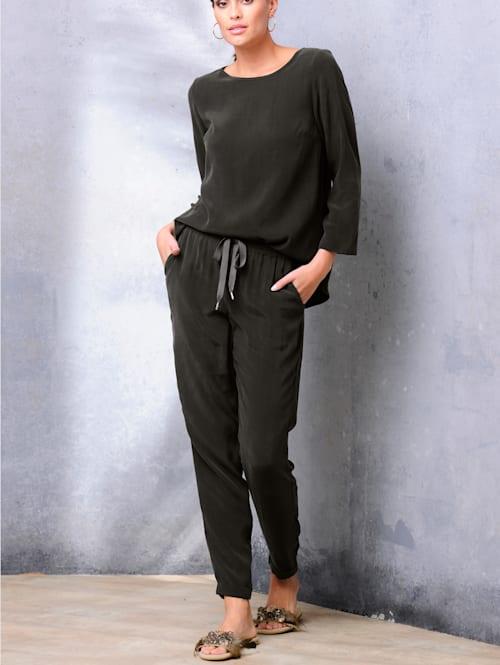 Pantolette aus Veloursleder