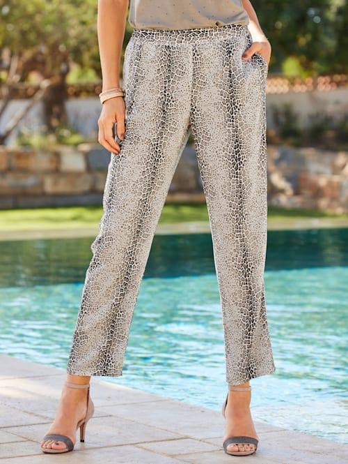 Pantalon à ravissant motif léopard