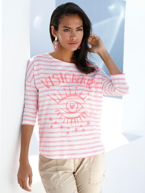 Shirt met modieuze print