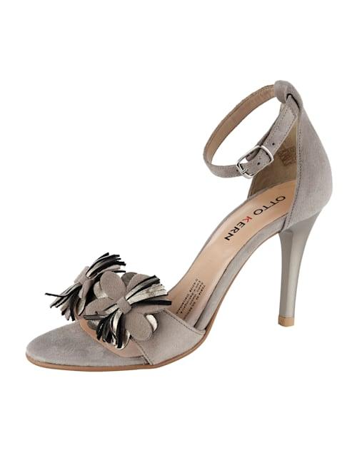 Sandalette aus Ziegenveloursleder