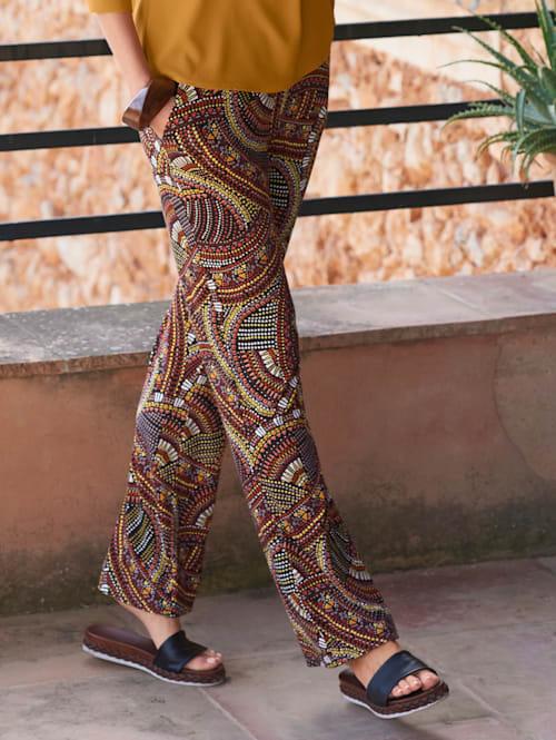Jerseyhose in farbenfrohem Ethnodessin