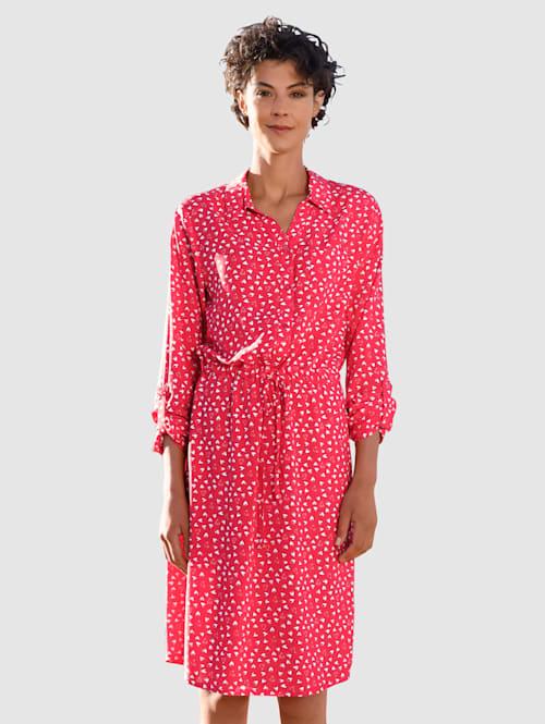 Kleid mit Herzchendruck