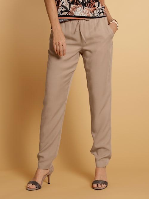 Pantalon à taille élastiquée en Tencel