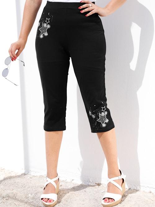 Capri kalhoty v elastické žerzejové kvalitě