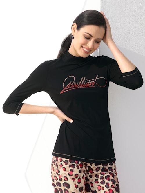 Shirt met opschrift voor