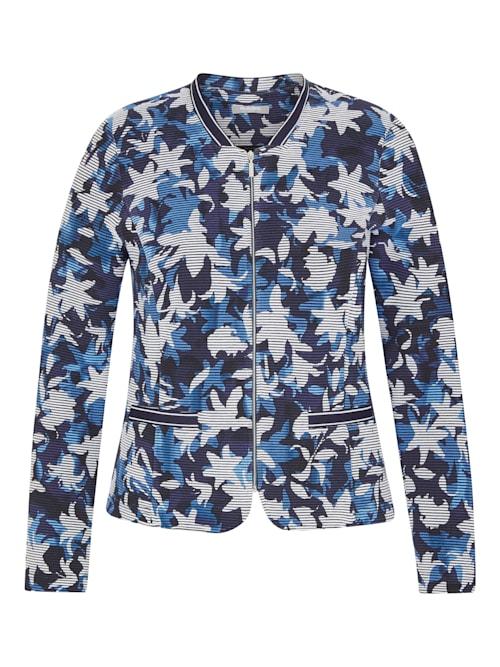 Jacke mit floralem Muster und Reißverschluss