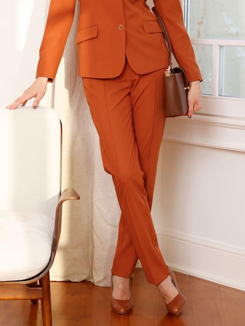 Pantalon à plis surpiqués