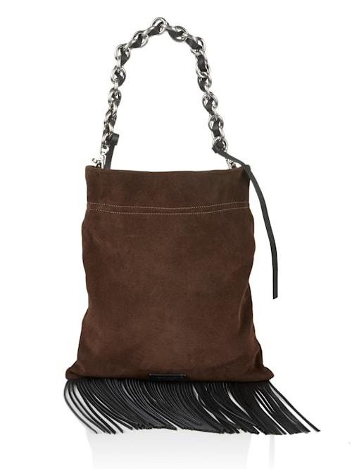 Hobo-Bag mit Fransen