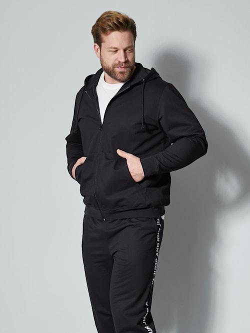 Sweatshirtjacka med extra plats för magen