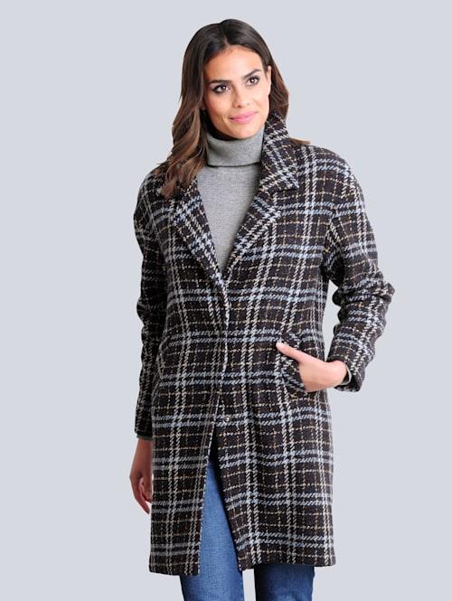 Mantel im modischem Karo-Dessin