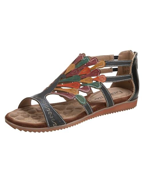 Sandaaltje met zomerse kleuren