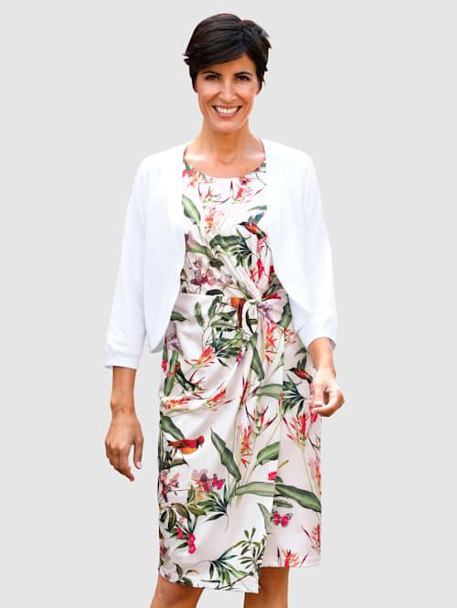 Jersey jurk met exclusieve print rondom