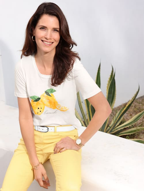 Shirt mit Zitronen-Motiv