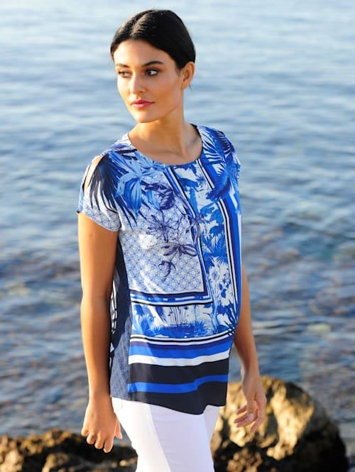 Blúzkové tričko s exkluzívnou Alba Móda potlačou