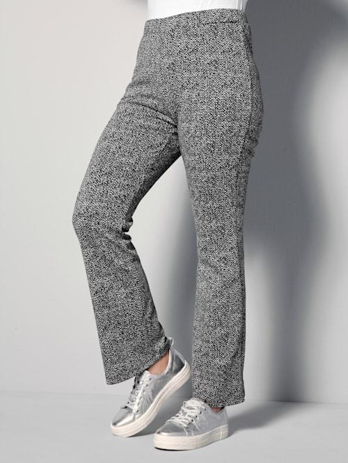 Bukse i melert materiale