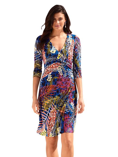Kleid mit Blätter-Muster allover