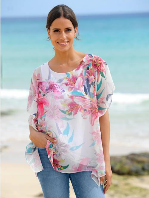 Strandshirt mit silbernen Dekosteinen