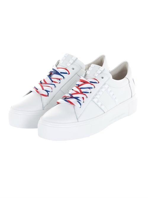 Sneaker Farbige Satin-Schürbänder