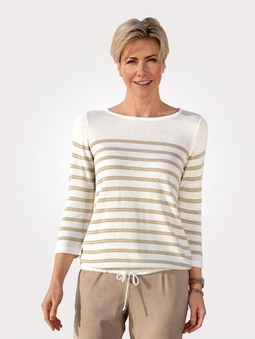 Pullover mit glänzenden Ringeln