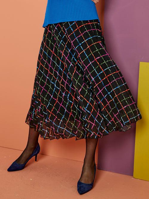 Jupe plissée à motif à carreaux de coloris harmonieux